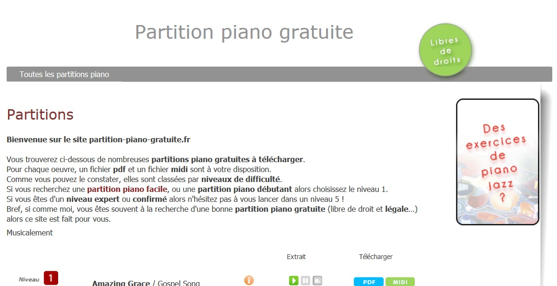 Partitions_gratuites