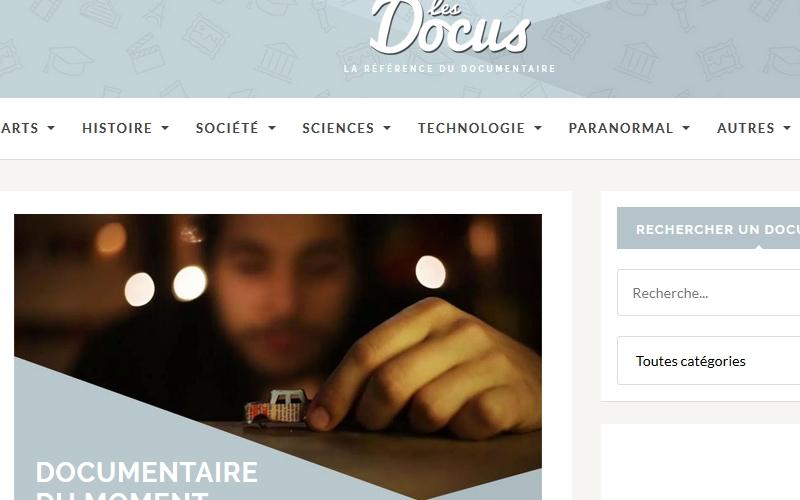 """Page d'accueil du site """"Les docus.point.com"""""""