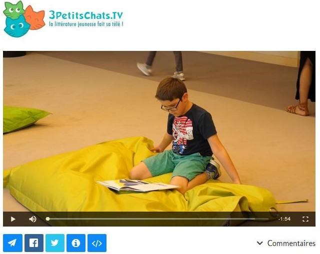 3petitschats.tv, un webmagazine sur la littérature jeunesse Livre, jeunesse, lecture, enfant