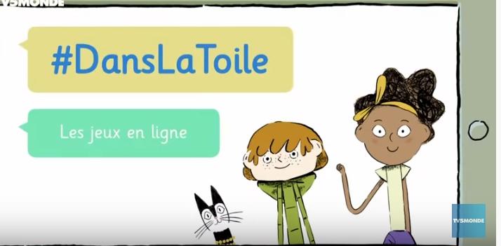 """Lien vers les capsules youtube """"Dans le toile"""" nouvel onglet"""