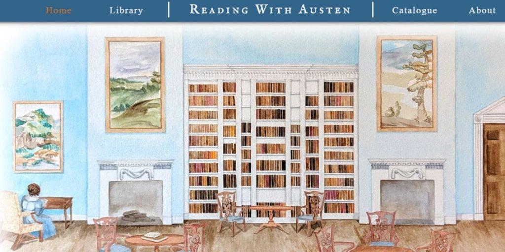 Lien vers le site de la bibliothèque de Jane Austen, nouvel onglet