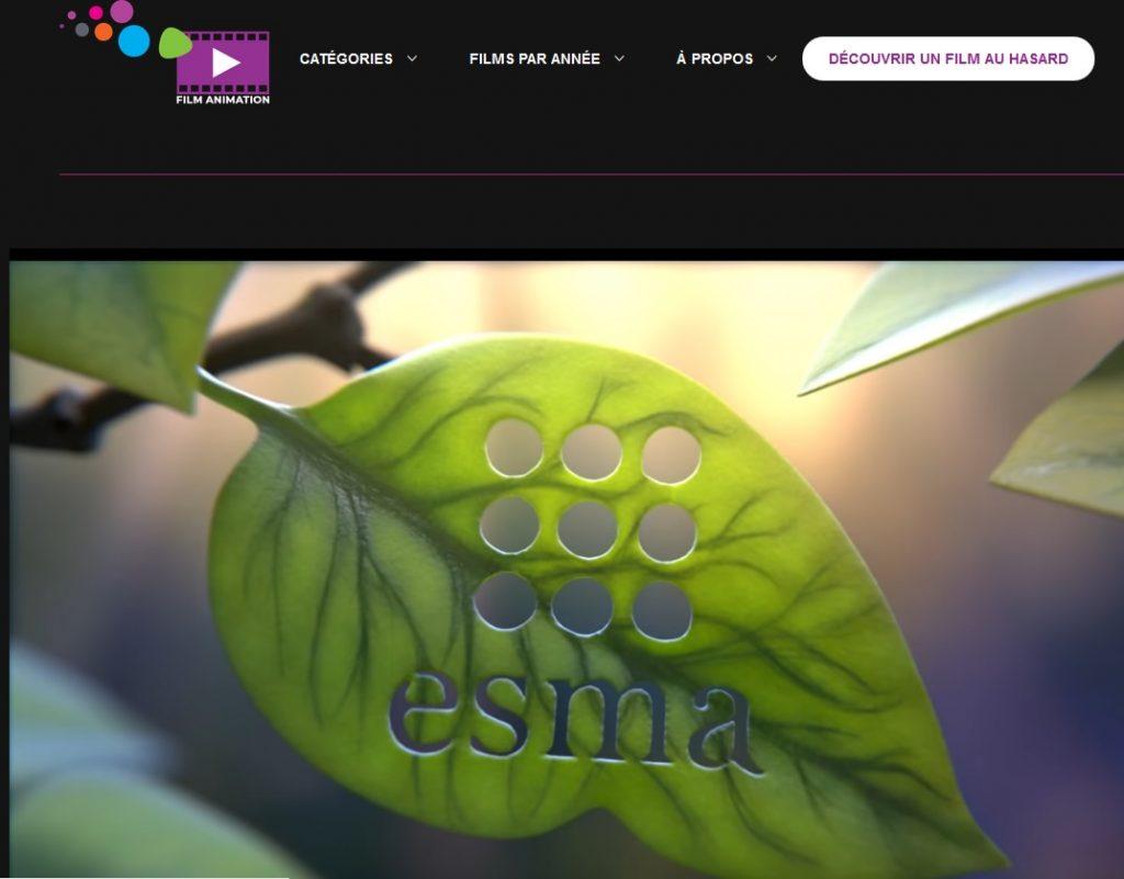 Accès à la collection Esma jeunesse, nouvel onglet