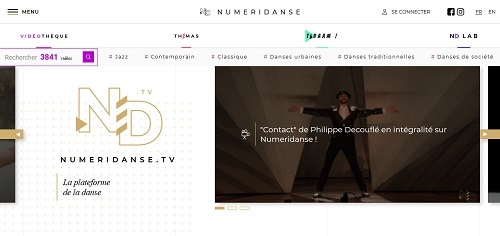 lien vers le site Numéridanse, nouvel onglet