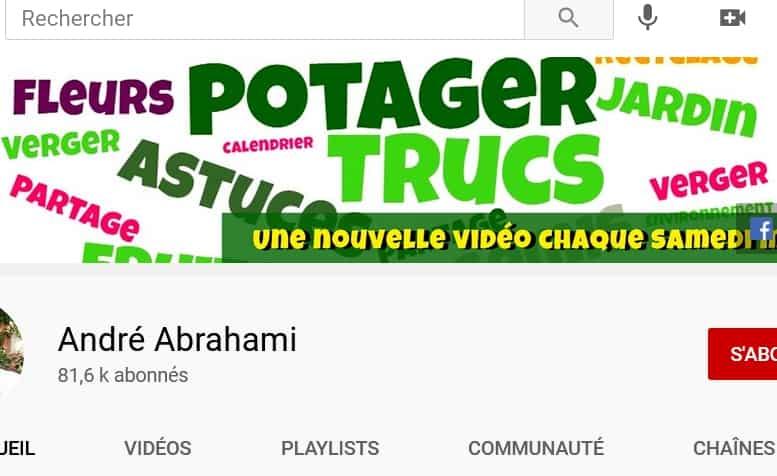Accès à la Chaîne Youtube d'André Abrahami, nouvel onglet