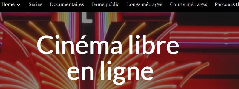 Accès au site Cinéma libre en ligne, nouvel onglet