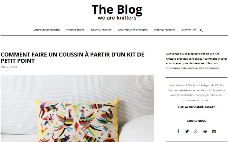 Lien vers le blog we are knitters, nouvel onglet