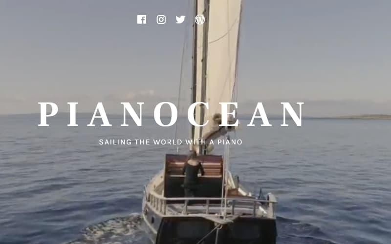 Accès au site Pianocean, nouvel onglet