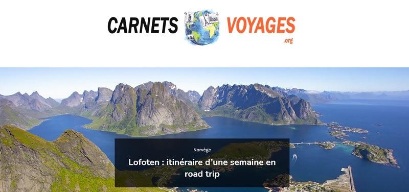 lien vers le site carnets voyages, nouvel onglet